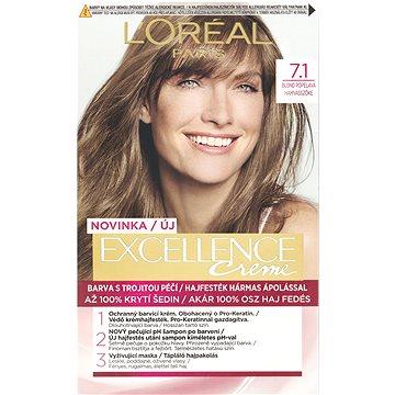 Barva na vlasy LORÉAL PARIS Excellence Creme 7.1 Blond popelavá (3600523231966)