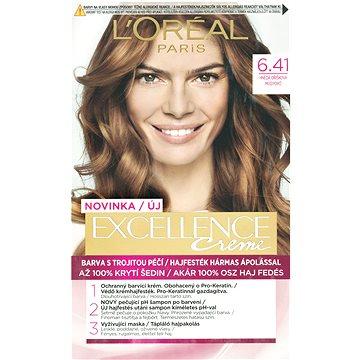 Barva na vlasy LORÉAL PARIS Excellence Creme 6.41 Hnědá oříšková (3600523006298)