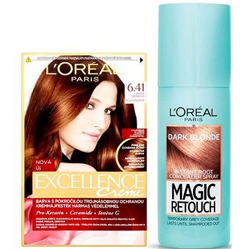 Sada LORÉAL PARIS Excellence Creme 6.41+ Magic Retouch 4