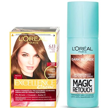 Sada LORÉAL PARIS Excellence Creme 6.13 + Magic Retouch 4