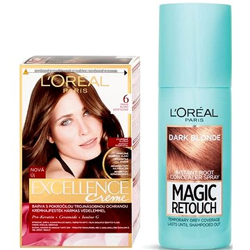 Sada LORÉAL PARIS Excellence Creme 6 + Magic Retouch 4
