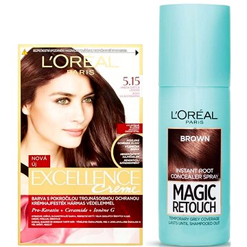Sada LORÉAL PARIS Excellence Creme 5.15 + Magic Retouch 3