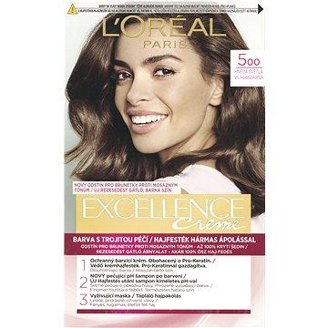 Barva na vlasy LORÉAL PARIS Excellence Creme 5 Hnědá světlá (3600520616667)