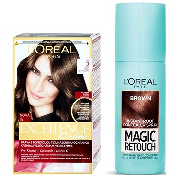 Sada LORÉAL PARIS Excellence Creme 5 + Magic Retouch 3