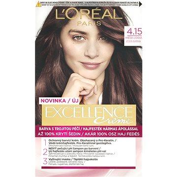 Barva na vlasy LORÉAL PARIS Excellence Creme 4.15 Hnědá ledová (3600523231942)