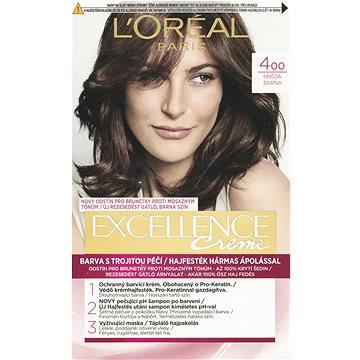 Barva na vlasy LORÉAL PARIS Excellence Creme 4 Hnědá (3600520616629)