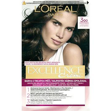 Barva na vlasy LORÉAL PARIS Excellence Creme 3 Tmavá hnědá (3600523006281)