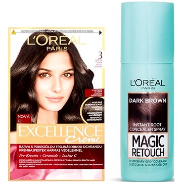 Sada LORÉAL PARIS Excellence Creme 3 + Magic Retouch 2