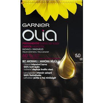Barva na vlasy GARNIER Olia 5.0 Hnědá (3600541298682) + ZDARMA Rukavice GARNIER Rukavice