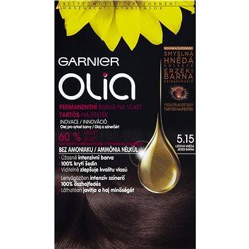 Barva na vlasy GARNIER Olia 5.15 Ledová hnědá (3600541593459)
