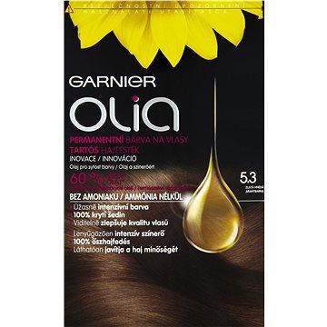 Barva na vlasy GARNIER Olia 5.3 Zlatá hnědá (3600541298705) + ZDARMA Rukavice GARNIER Rukavice