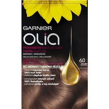 Barva na vlasy GARNIER Olia 6.0 Světle hnědá (3600541298729) + ZDARMA Rukavice GARNIER Rukavice