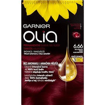 Barva na vlasy GARNIER Olia 6.66 Světlá granátově červená (3600541611658) + ZDARMA Rukavice GARNIER Rukavice