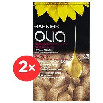 GARNIER Olia 8.31 Zlatě popelavá blond 2×
