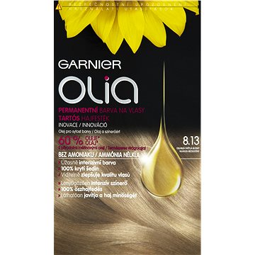 Barva na vlasy GARNIER Olia 8.13 Oslnivá světlá blond (3600541298859) + ZDARMA Rukavice GARNIER Rukavice