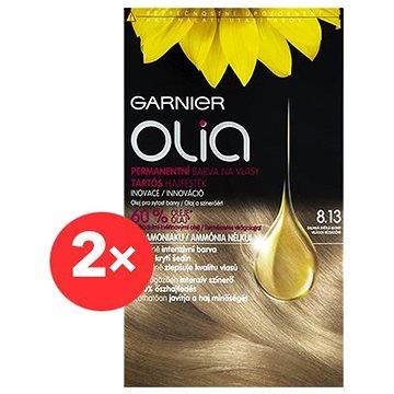 GARNIER Olia 8.13 Oslnivá světlá blond 2×