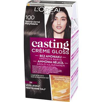 Barva na vlasy LORÉAL PARIS Casting Creme Gloss 100 Temně černá (3600523425150)