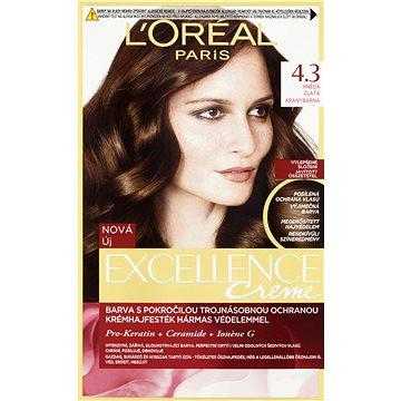 Barva na vlasy LORÉAL PARIS Excellence Creme 4.3 Hnědá Zlatá (3600523425129)