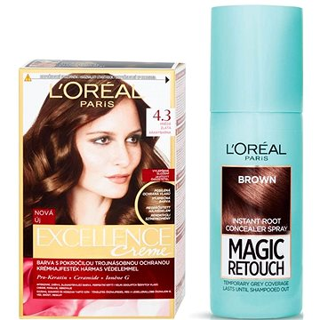 Sada LORÉAL PARIS Excellence Creme 4.3 + Magic Retouch 3