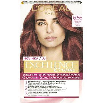 Barva na vlasy LORÉAL PARIS Excellence Creme 6.66 Intenzivní Červená (3600523425570)