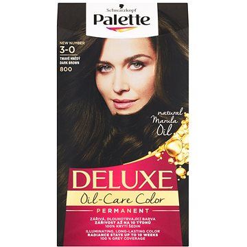 Barva na vlasy SCHWARZKOPF PALETTE Deluxe 800 Tmavě hnědý 50 ml (3838824176994)