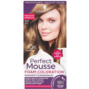Barva na vlasy SCHWARZKOPF PERFECT MOUSE 800 - Středně plavý 35 ml (3838824222769)
