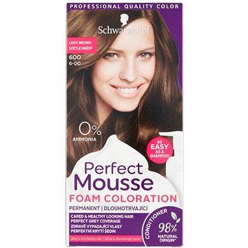 Barva na vlasy SCHWARZKOPF PERFECT MOUSE 600 - Světle hnědý 35 ml (3838824222844)
