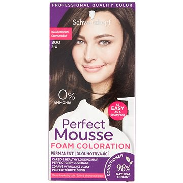 SCHWARZKOPF PERFECT MOUSE 300 - Černohnědý 35 ml (3838824222981)
