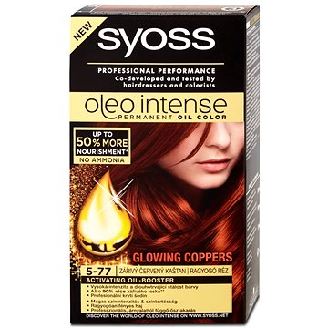 Barva na vlasy SYOSS Oleo Intense 5-77 Zářivý červený kaštan 50 ml (9000100961608)