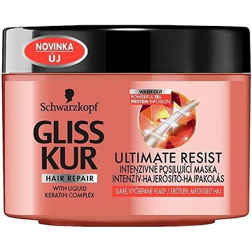 Maska na vlasy SCHWARZKOPF GLISS KUR Ultimate Resist Mask 200 ml (9000100998895)