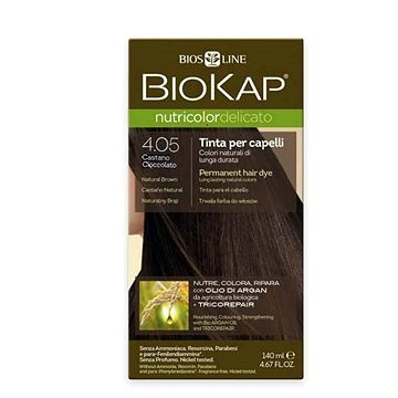 Barva na vlasy BIOKAP Nutricolor Delicato Natural light Chestnut Gentle Dye 5.0 140 ml (8030243011220)