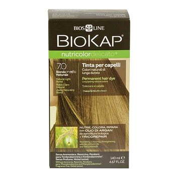 Barva na vlasy BIOKAP Nutricolor Delicato Natural Medium Blond Gentle Dye 7.0 140 ml (8030243011237)