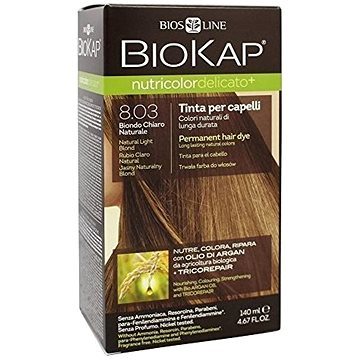 Barva na vlasy BIOKAP Nutricolor Delicato Natural Light Blond Gentle Dye 8.03 140 ml (8030243011268)