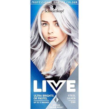 Barva na vlasy SCHWARZKOPF LIVE Ultra Brights Steel Silver 50 ml (9000101062922)