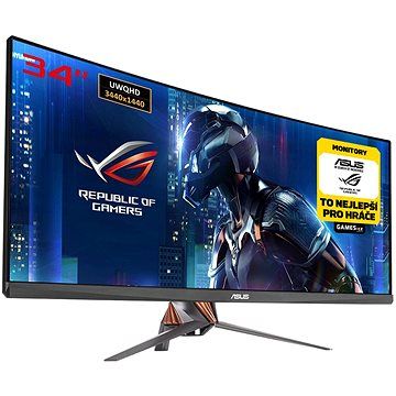 34 ASUS ROG Swift PG348Q Curved (90LM02A0-B01370) + ZDARMA Hra pro PC Assassins Creed Origins