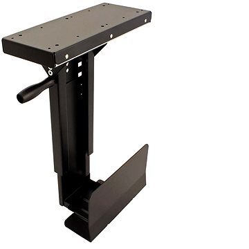 Roline Držák slim PC pod desku stolu, otočný, černý, 10kg