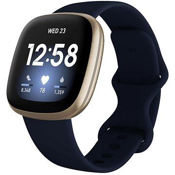 Fitbit Versa 3 - Midnight/Soft Gold Aluminum (FB511GLNV)