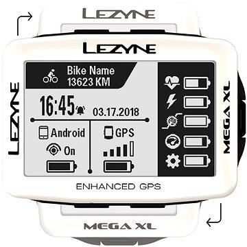 Lezyne Mega XL GPS White (1-GPS-MEGAXL-V107)