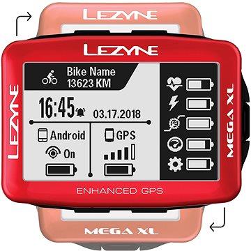 Lezyne Mega XL GPS Red (1-GPS-MEGAXL-V115)