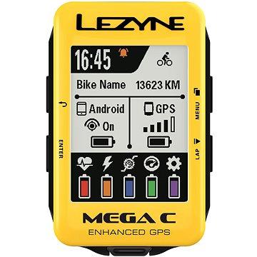 Lezyne Mega C GPS Yellow (1-GPS-MEGAC-116)