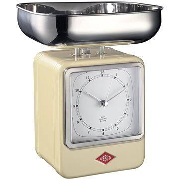 Wesco Retro kuchyňská váha s hodinami mandlová (322204-23)