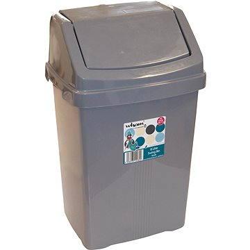 Odpadkový koš Wham Koš odpadkový 50l stříbrný 11755 (42000048)