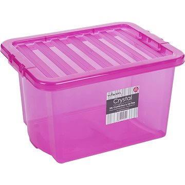 Wham Box s víkem 24l růžová 12322 (42000024)