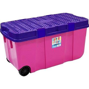 Wham Box s víkem a kol.100l růžový 15250 (42000576)