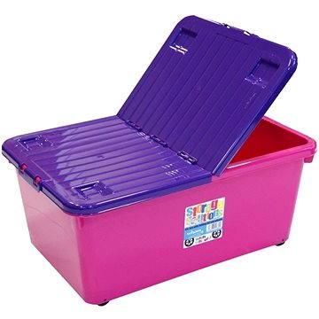 Wham Box se skl.víkem 45l růžový 15400 (42000580)