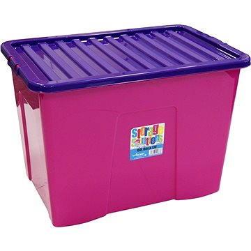 Wham Box se skl.víkem 80l růžový 15425 (42000618)