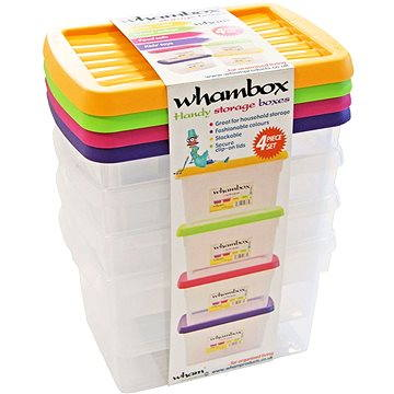 Wham Box s víkem 1,5l 4ks assort 13104 (42001414)