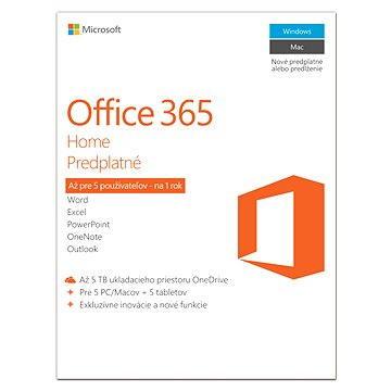 Microsoft Office 365 Home Premium SK (elektronická licence) (6GQ-00092)