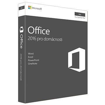 Microsoft Office Home and Student 2016 CZ pro MAC - 1 uživatel/ 1 počítač (GZA-01051)