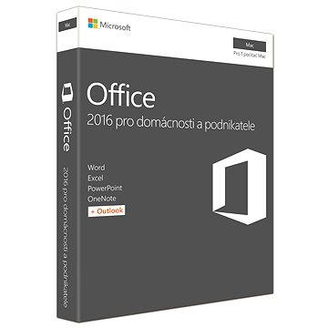 Microsoft Office 2016 pro domácnosti a podnikatele pro MAC CZ - 1 uživatel/ 1 počítač (W6F-00999)